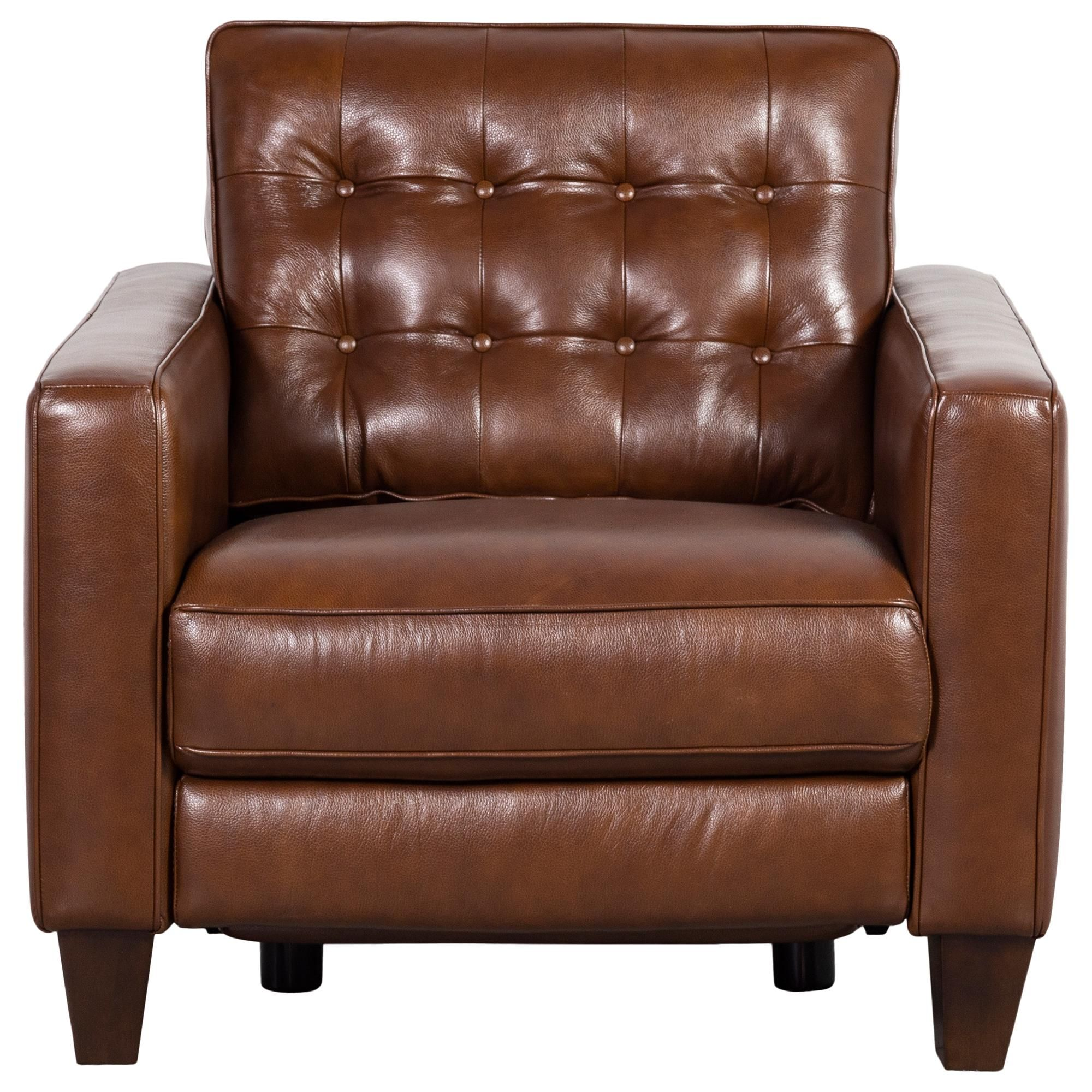 Violino Leather Chair With Power Footrest In Classico Chestnut Nebraska Furniture Mart In 2020 Leather Chair Foot Rest Nebraska Furniture Mart
