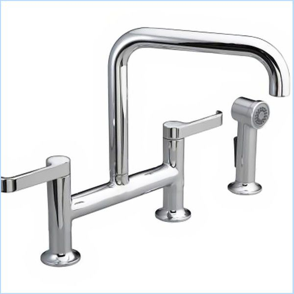 Kohler Torq Deck Mount Bridge Kitchen Faucet With Sidespray K 6126 4