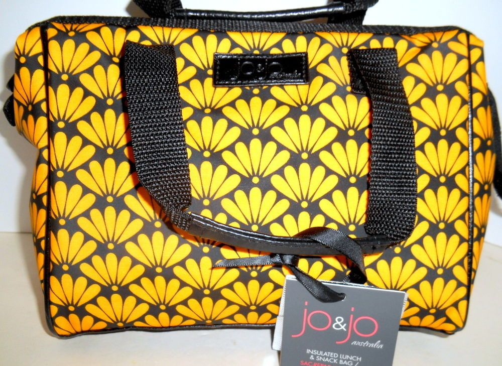 c63ea4dd72ba JO & JO Australia Womens Insulated LUNCH & SNACK BAG *NEW* Black ...