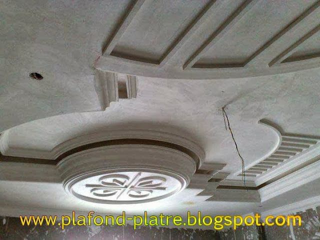 D coration agr able de faux plafond en platre faux for Decoration de plafond en platre