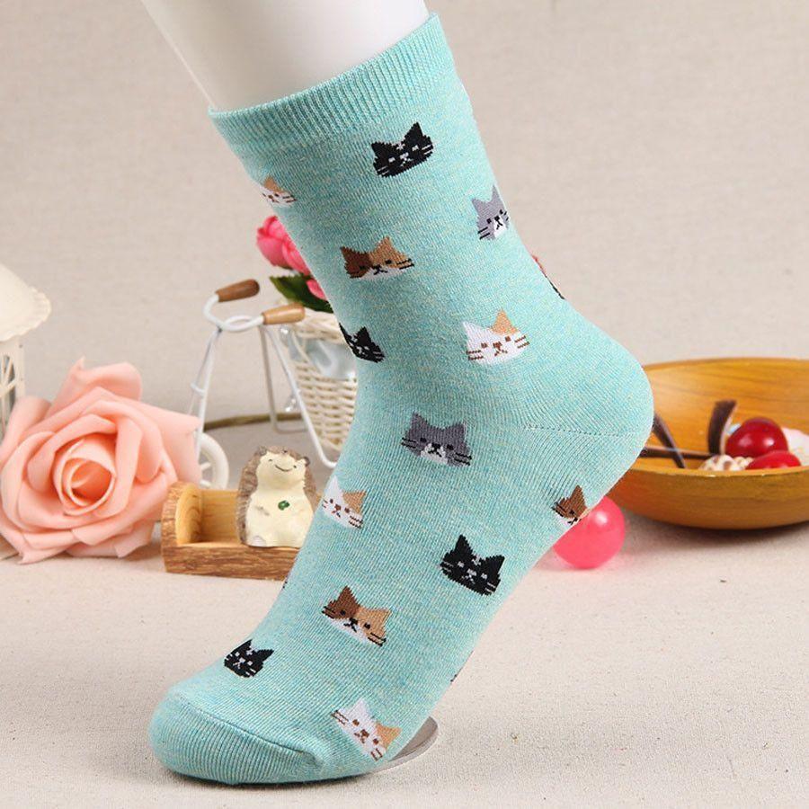 Unique Kitten Print Cotton Socks Sock animals, Socks