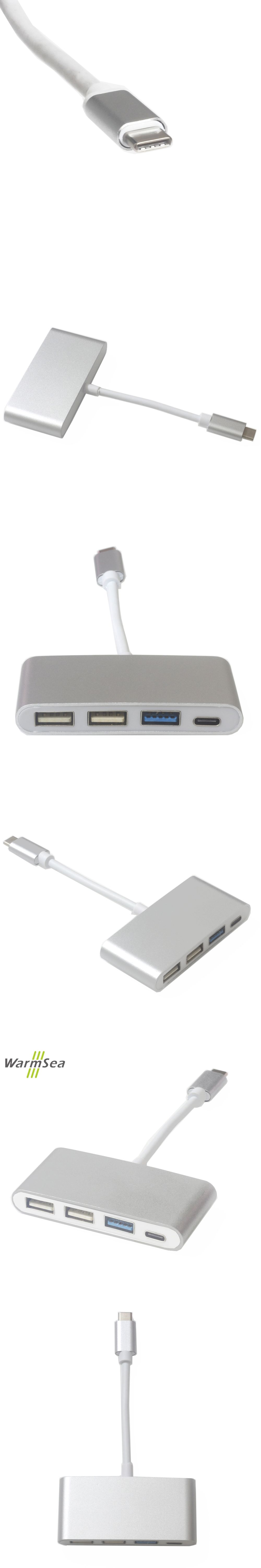 USB C HUB Thunderbolt 3 Dock Type C Dongle to 3 USB 3 0 with USB C