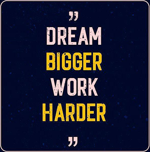 Photo of Dream Bigger Work Harder – Motivational Quote Premium
