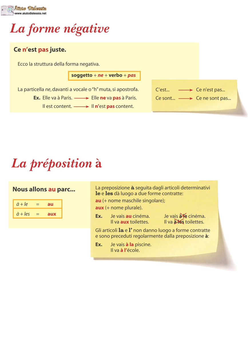 Francese Sc Media Aiutodislessia Net Grammatica Francese
