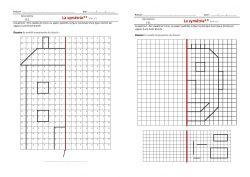 La symétrie : affiche, leçon et exercices | Géométrie ce1, Symétrie ce1 et Symétrie