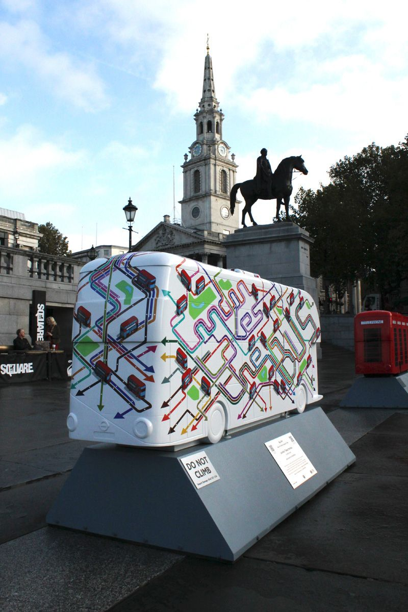 TfL Year of the Bus Sculpture Trail Design on Behance