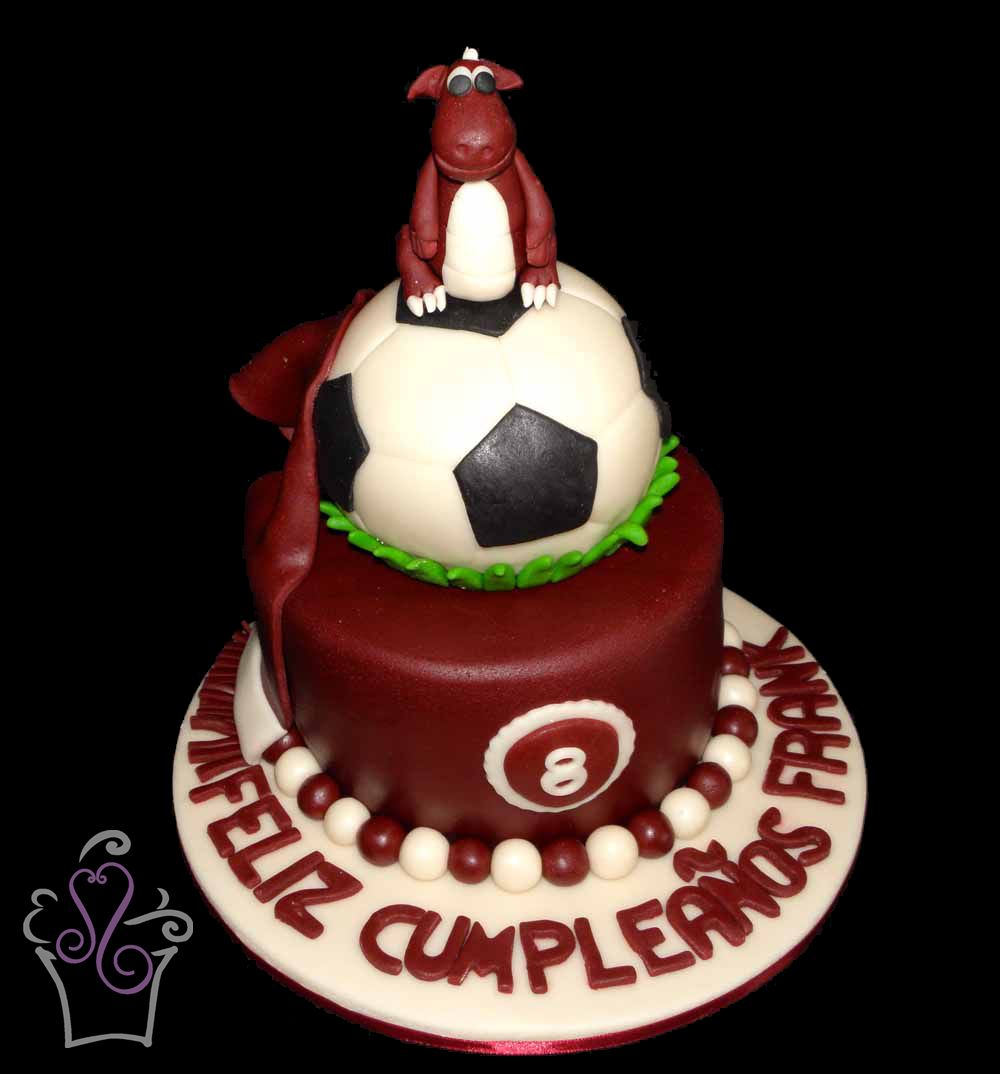 Saprissa Cake Cake Cakes Tiered Fondant Soocer Football Ball