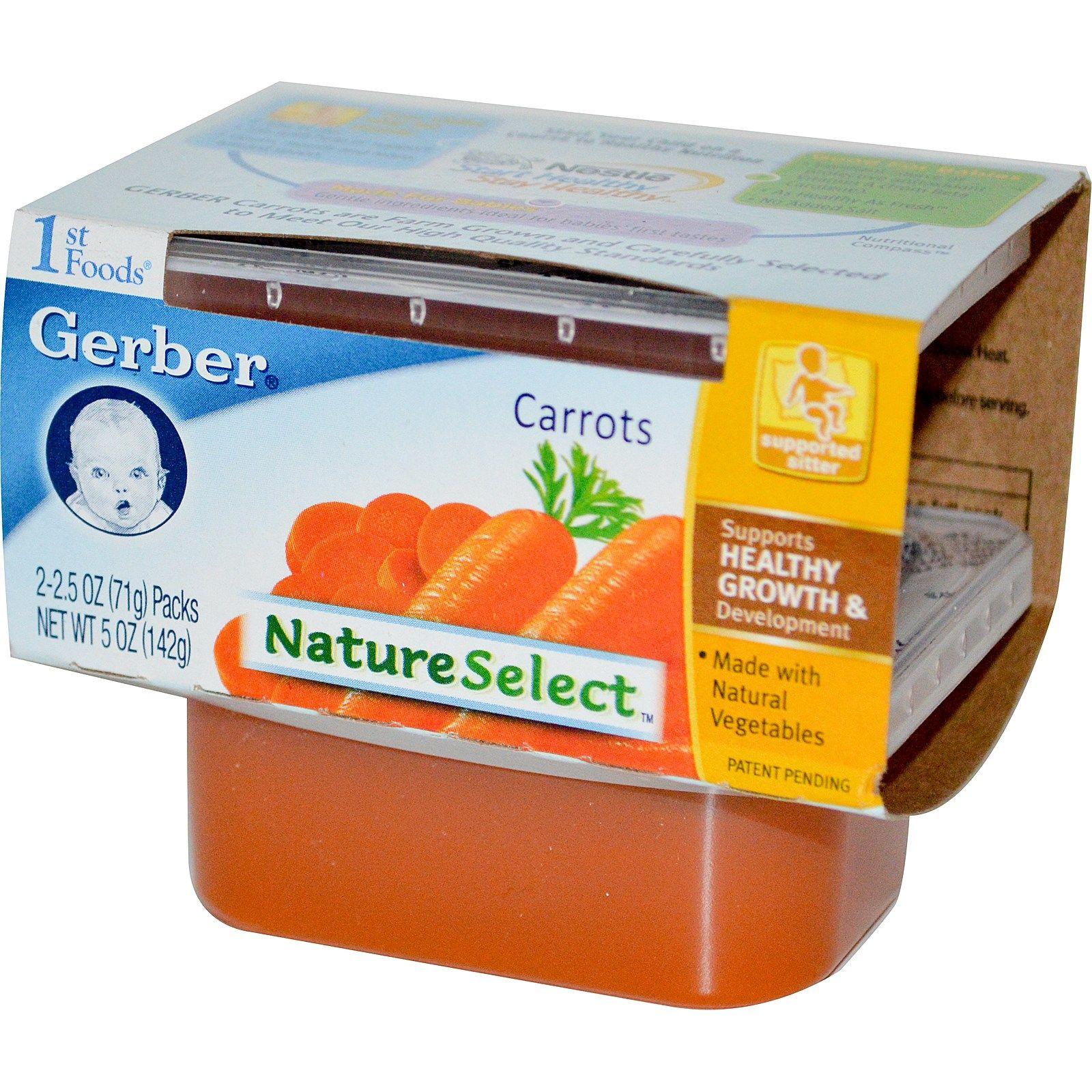Gerber 1st foods natureselect carrots 2 packs 25 oz
