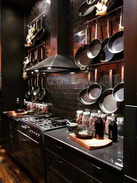 24 Beautiful Dark Kitchens Part 1 Unique Intuitions Gothic Kitchen Kitchen Design Kitchen Interior