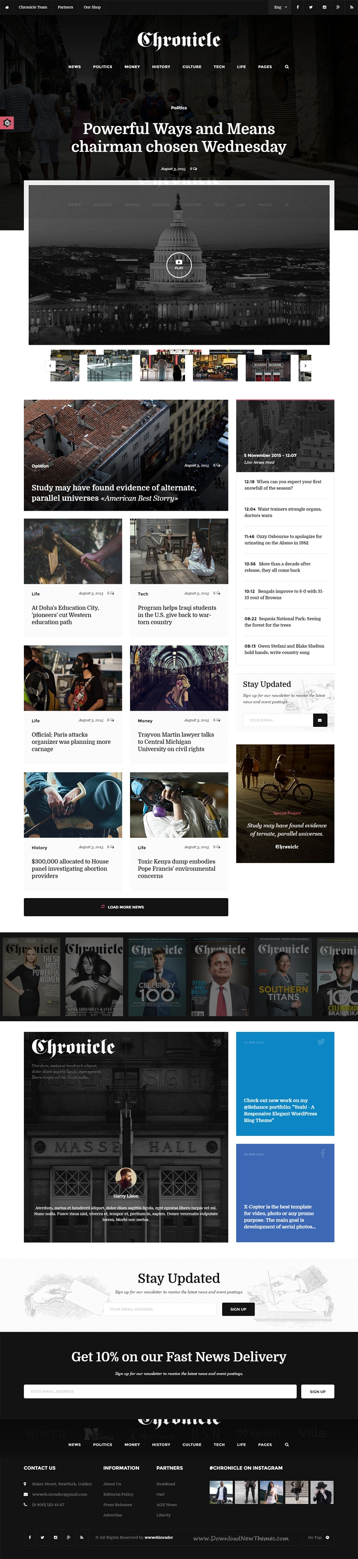 Chronicle - Premium News and Magazine HTML5 Template | Template and ...
