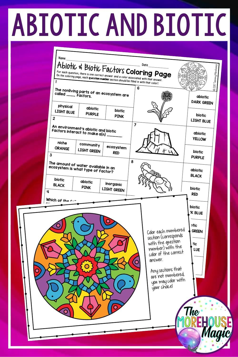 17++ Abiotic and biotic factors coloring page download HD