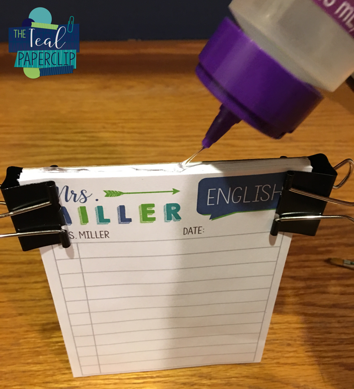 DIY Personalized Notepads: Monday Made It The Teal ...