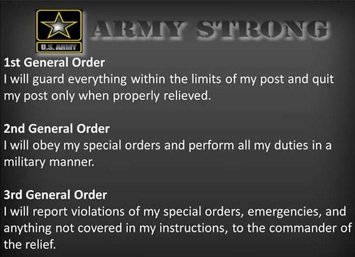 Gotta memorize this! general orders army | General Orders | Rotc ...