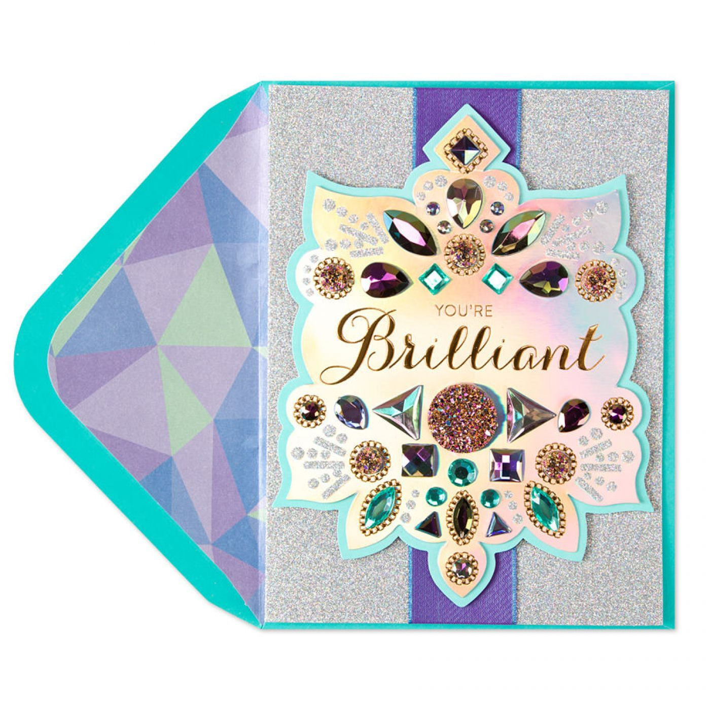 Holographic Brilliant Birthday Card Birthday cards