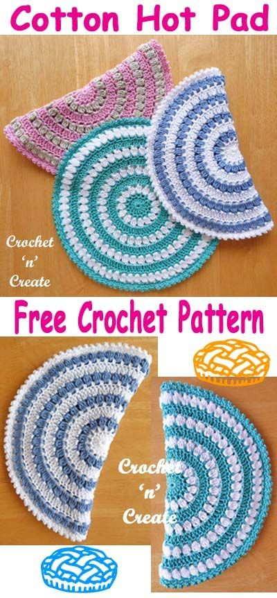 Cotton Hot Pad Free Crochet Pattern With Double Thickness Protect Your Dining Table From Dishes Crochetncreate