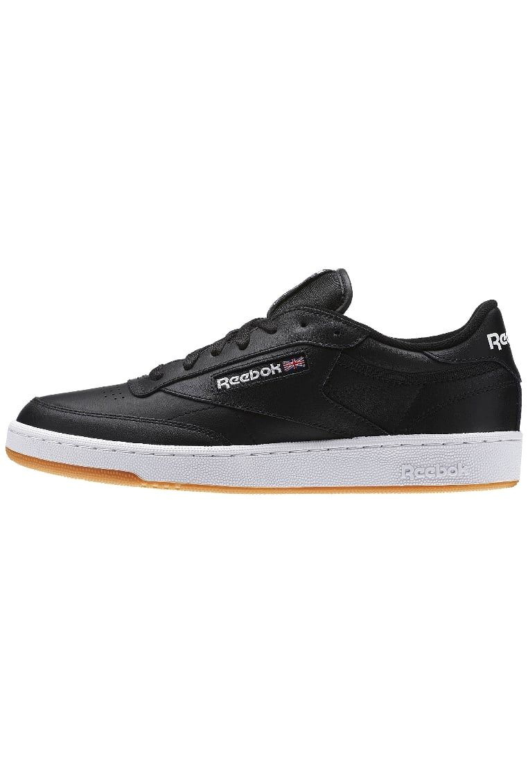 Reebok Classic CLUB C 85 - Trainers - intense black/white-gum 6FWjnR0Q