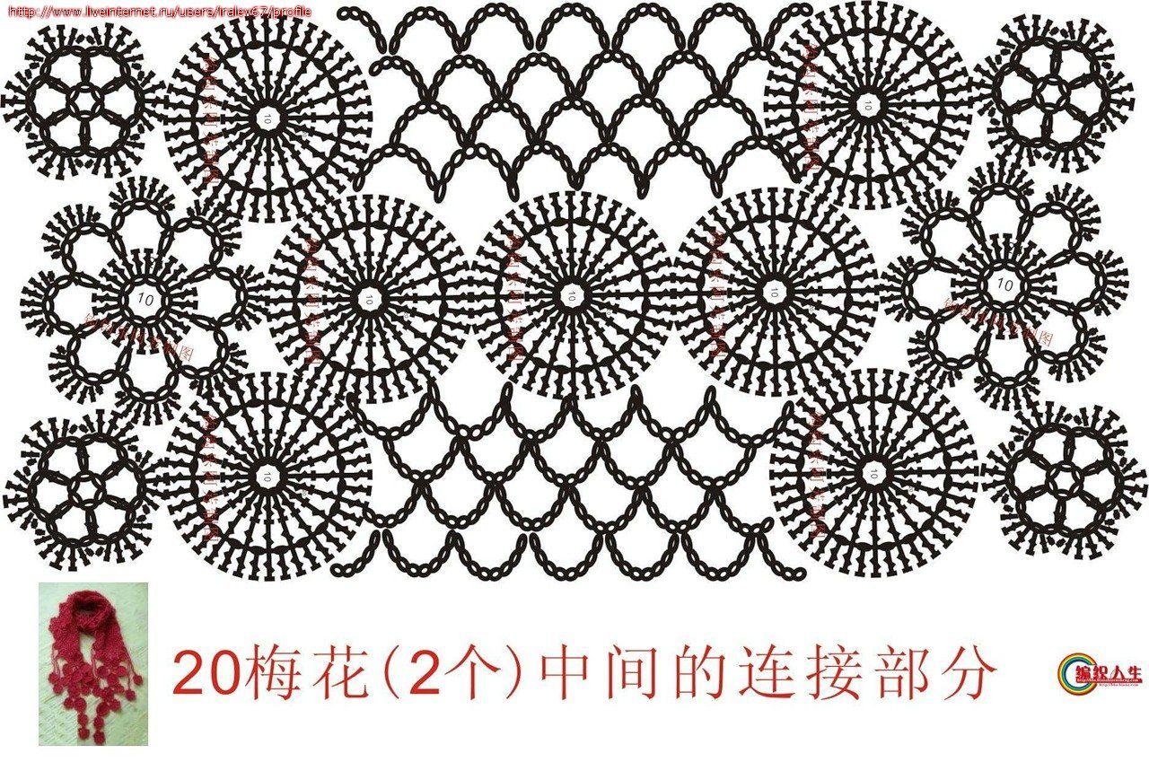 КреатиFF: Цветочные шарфики