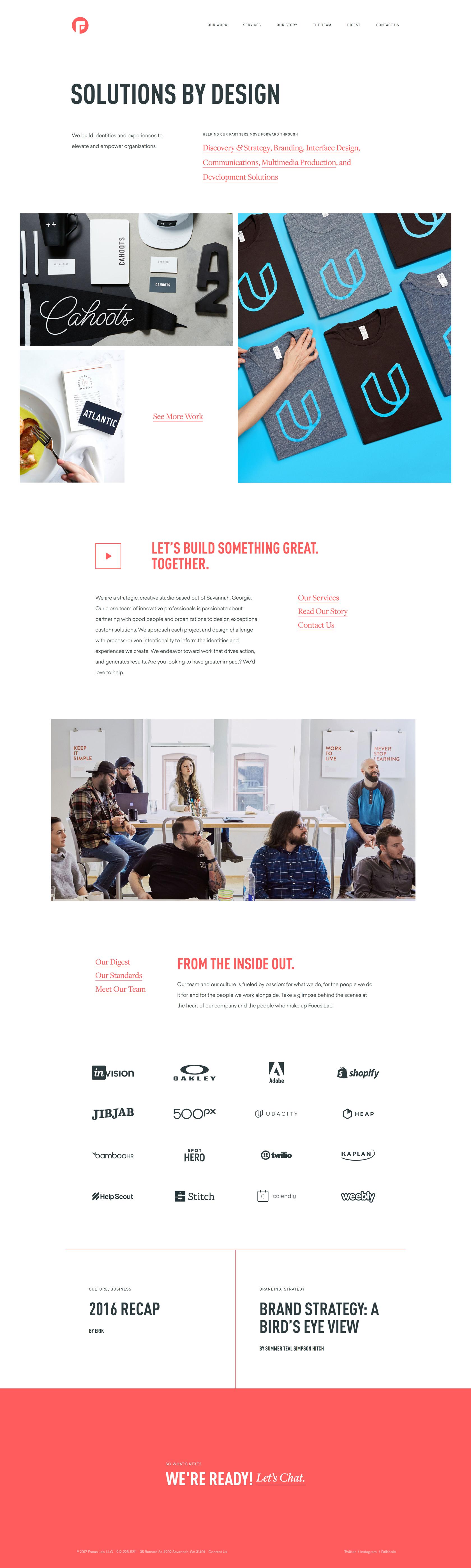 Focus Lab Best Landing Page Design Web Development Design Design