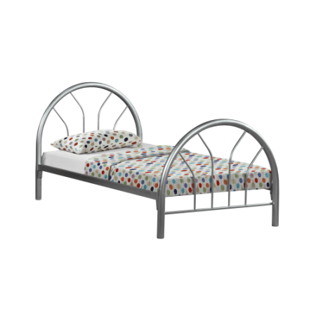 Monarch Bed Twin Size Silver Metal Frame Only Products Kids