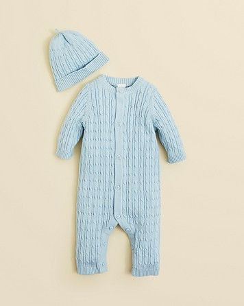 970eb81fcb1d Little Me Infant Boys  Cableknit Coverall   Hat - Sizes 3-9 Months ...