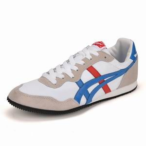 Asics Onitsuka Tiger Serrano White Blue Red Mens Shoes