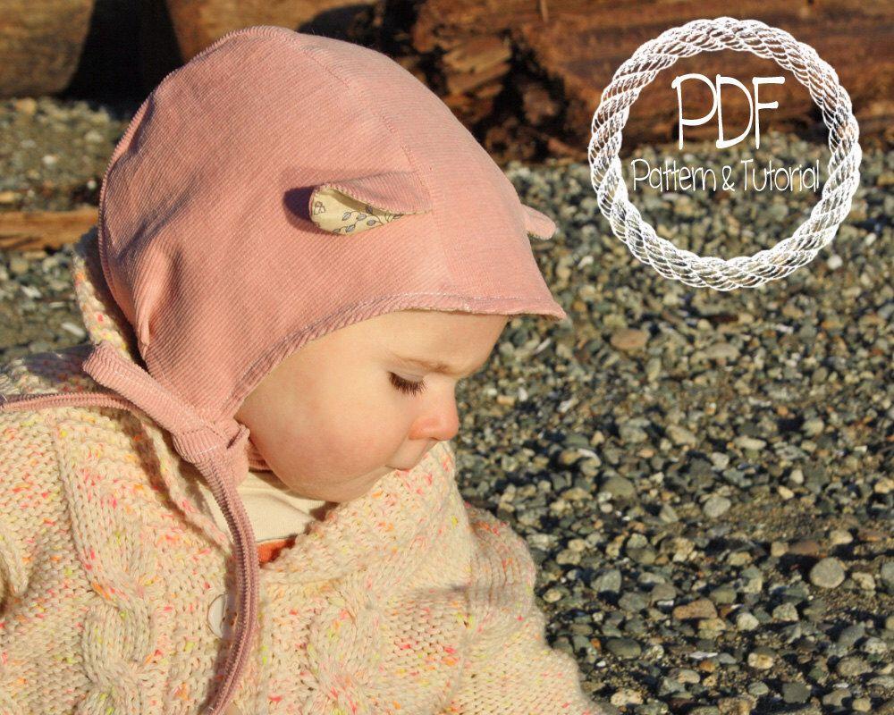 DIY baby bonnet pattern. Ear Hat | Shopping! | Pinterest