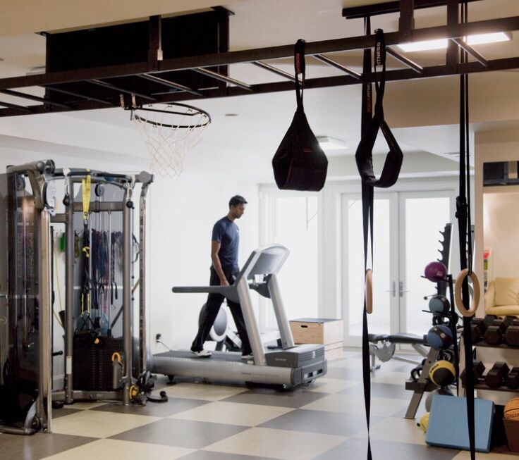 At Home Gym, Contemporary House, Hanging