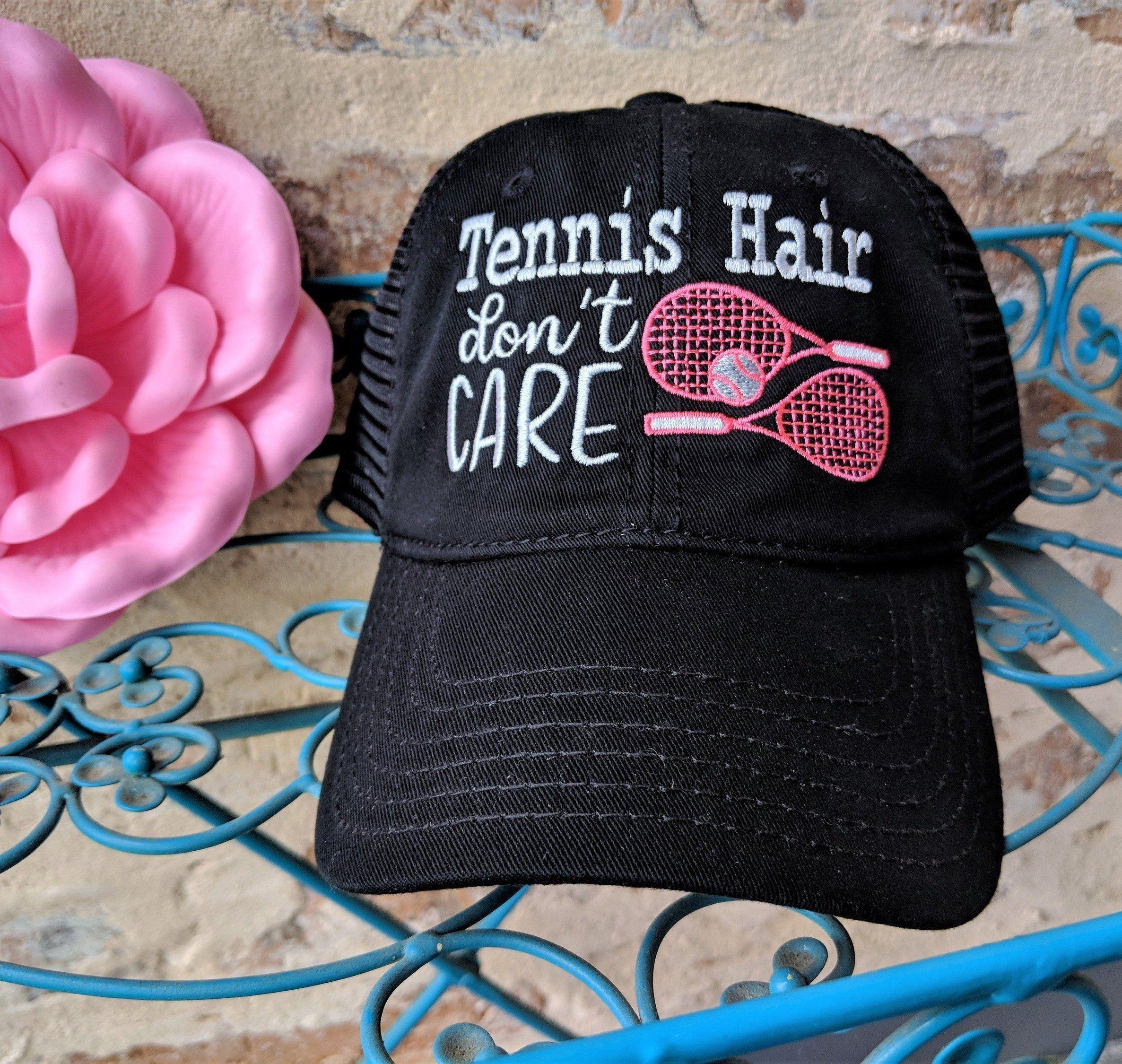 0cf9d2e9 Tennis Messy Bun Cap, Tennis high ponytail cap, Tennis hair don't care hat,  Tennis Birthday Gift, Tennis Christmas Gift, Tennis Accessories by ...
