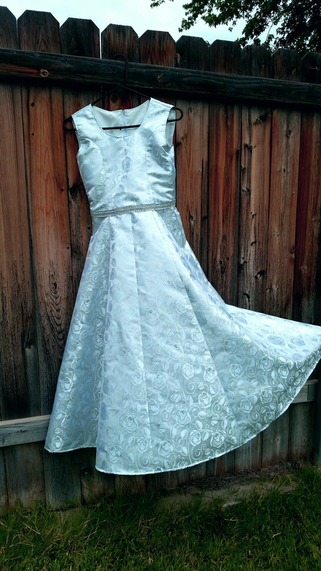 Custom made dress for a Grand Choir Event. The young lady is 13 ...