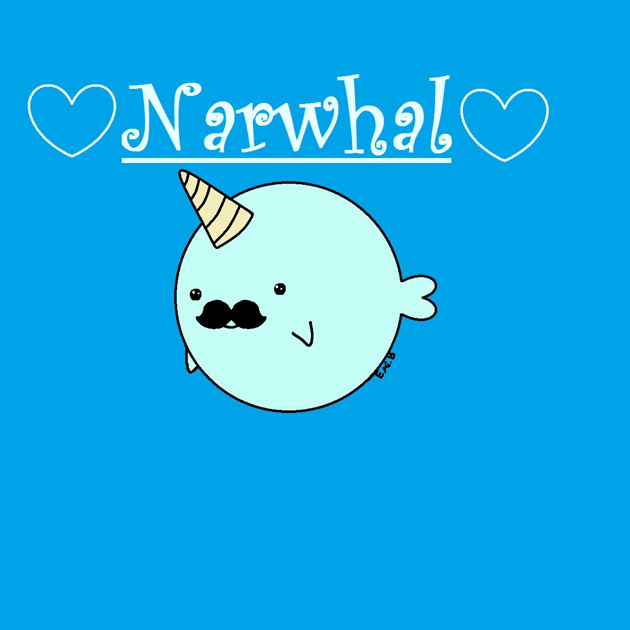 Amazing kawaii narwhal by dragoseema kawaii kawaii - Cute narwhal wallpaper ...
