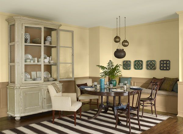 Amazing Benjamin Moore   Yellow Paint Color Palette For Dining Rooms: Oklahoma  Wheat 2160 50