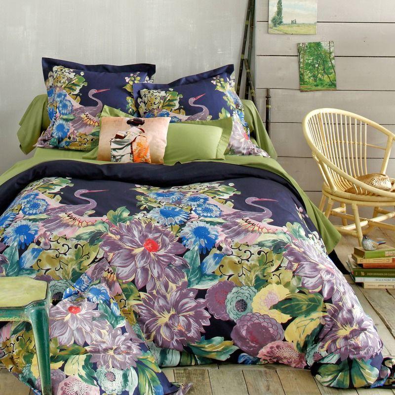 Housse De Couette Coton Imprime Zen Motif Japonais Honshu Home Decor Home Furniture