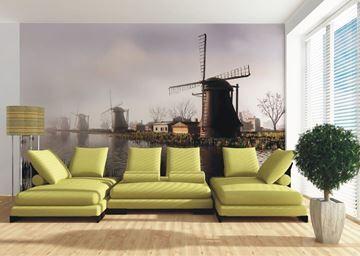 3d fotobehang windmolens in woonkamer   Fotobehang voor elk ...