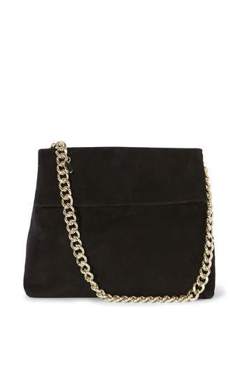cc469dff565 Karen Millen, SUEDE REGENT CHAIN BAG Black   Bags.   Bags, Clutch ...
