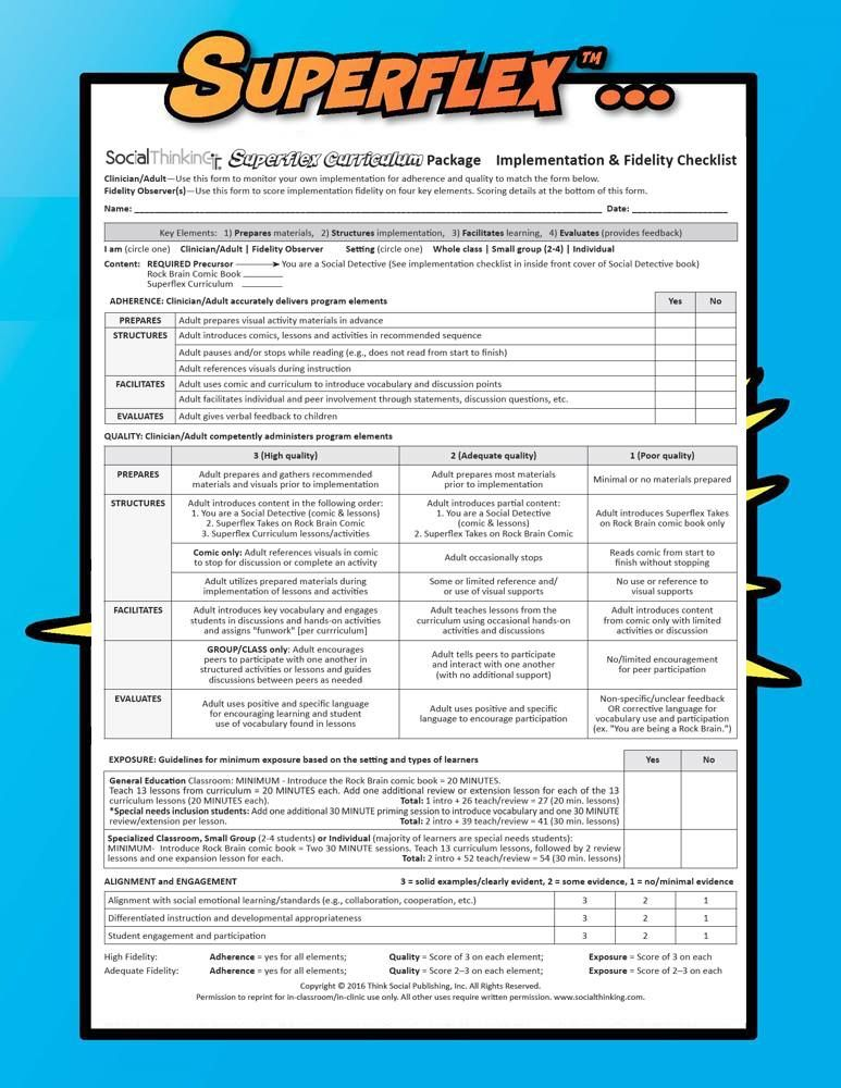 FREE Superflex fidelity checklist  There is a delicate