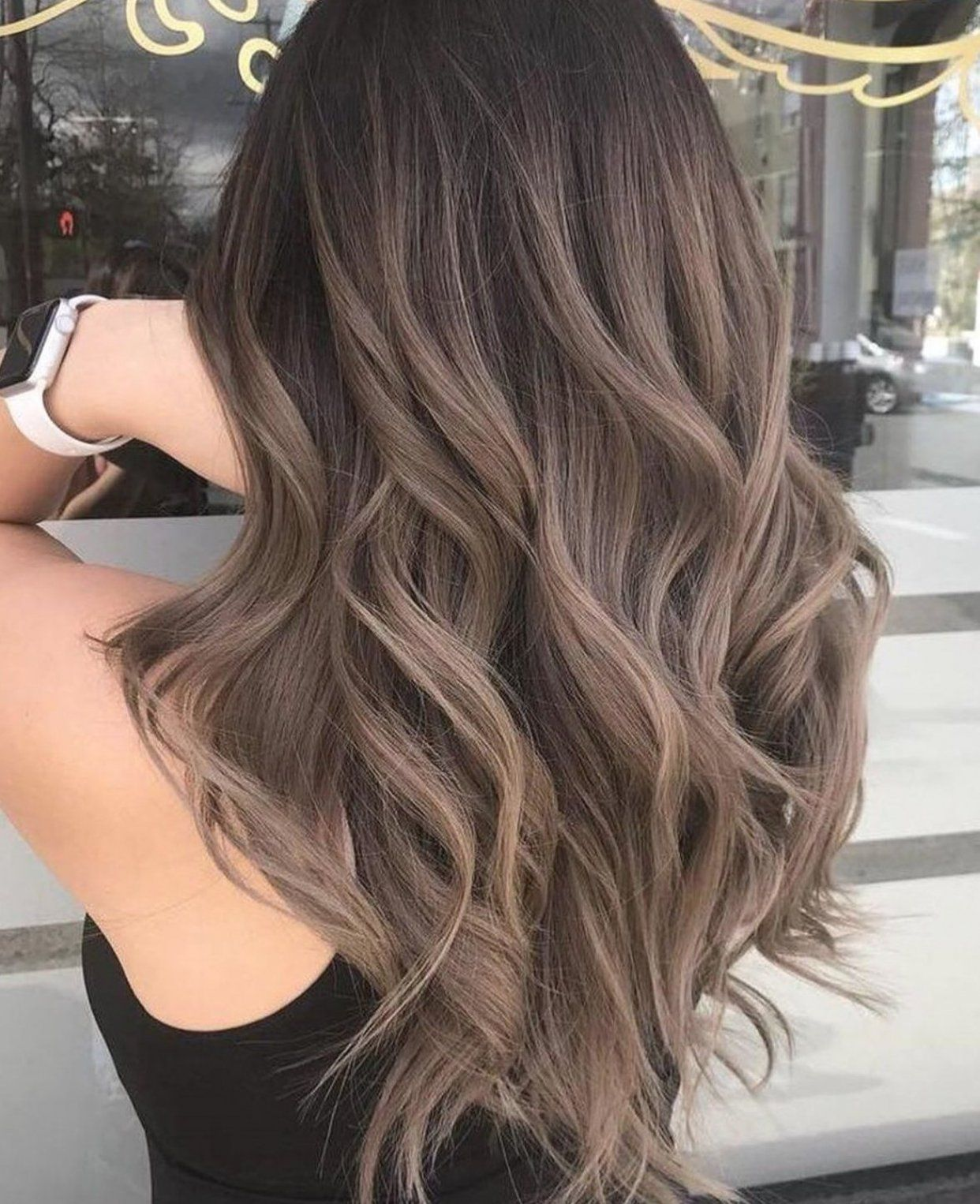Ash Brown Balayage Ombre #beauty #beauty #hacks #beauty #makeup in 2020 | Braune haare mit