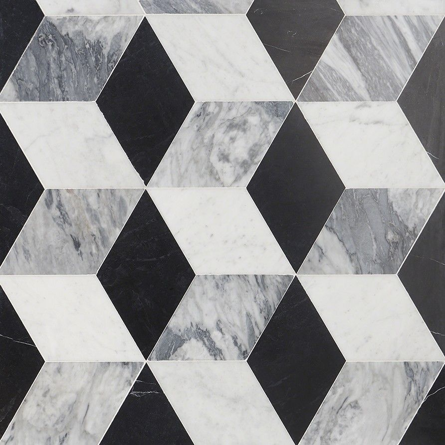Havasar Grigio Honed Marble Mosaic Marble Mosaic Honed Marble