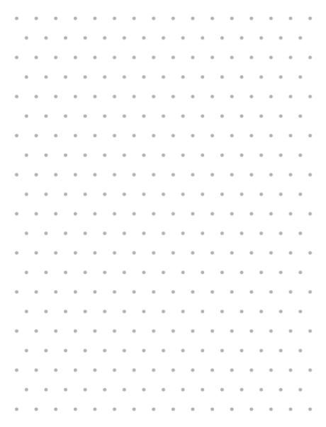 Grid paper isometric dots small medium and large Design and Draw