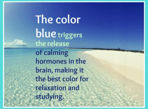ocean blue relaxation