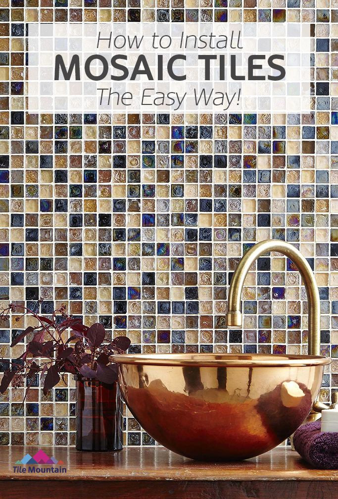 How To Cut Install And Lay Mosaic Tiles Using Backer Sheets