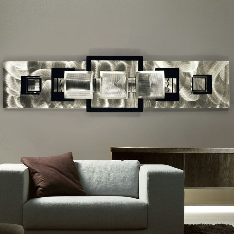 Stylish metal wall d cor ideas metal wall art metal for Silver wall art
