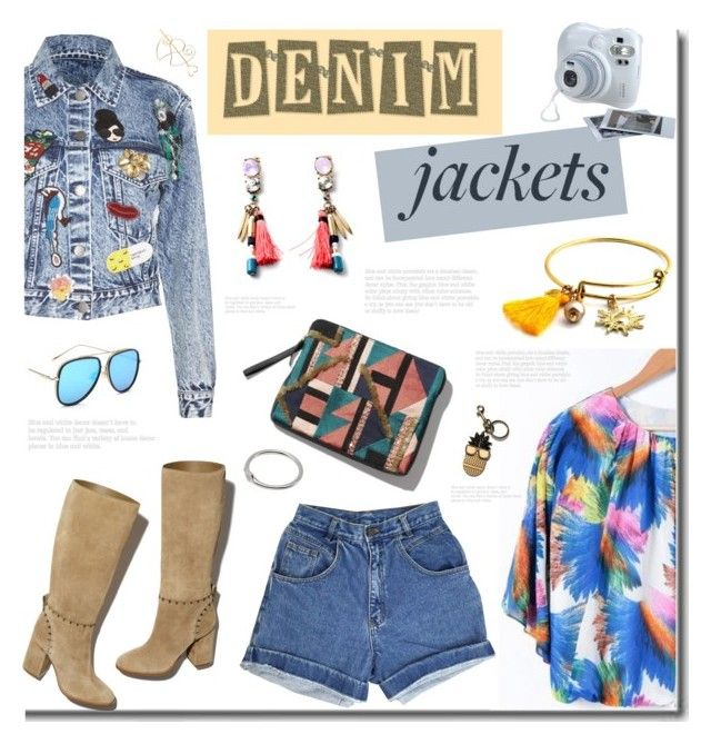 """""""Denim Jackets"""" by wannanna ❤ liked on Polyvore featuring Alice + Olivia, Tory Burch, Fujifilm and STELLA McCARTNEY"""