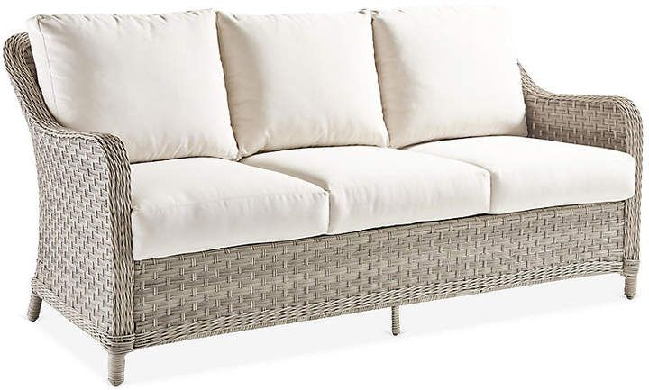 Mayfair Wicker Sofa Gray Canvas With Images Wicker Sofa Sofa