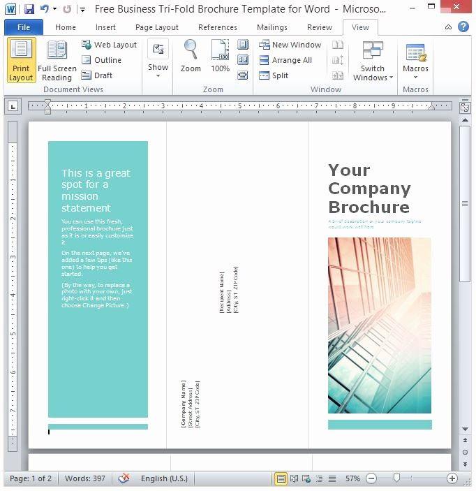 Lovely Free Business Tri Fold Brochure Template For Word Free Brochure Template Trifold Brochure Template Trifold Brochure