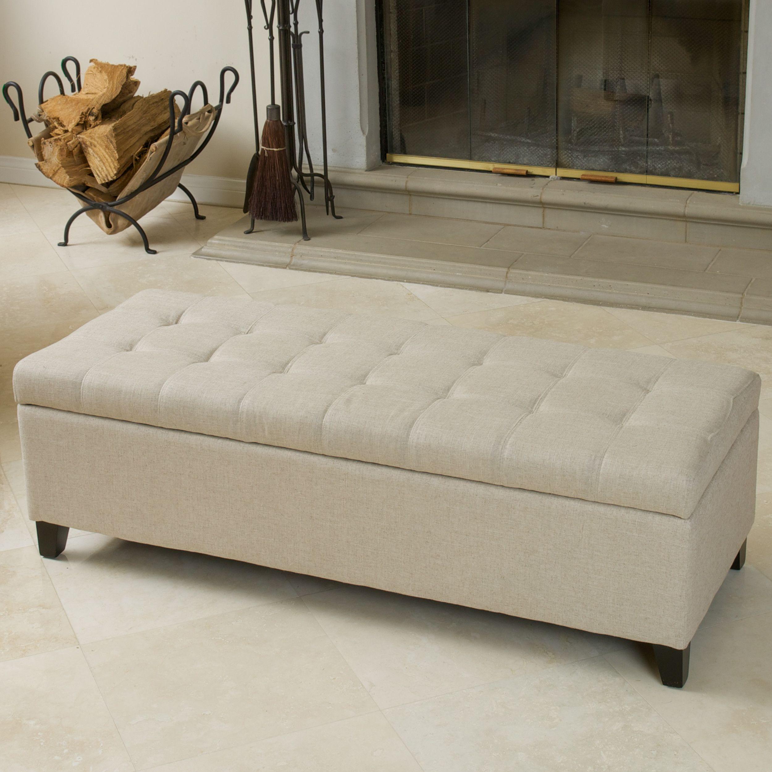 joss&mai n Darby Home Co® Trouffaut Tufted Storage Bench | ottomans ...