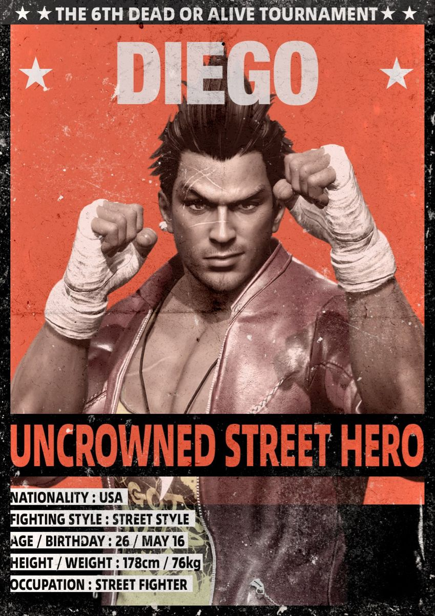 Diego Dead Or Alive 6 Fighting Games Alive Diego