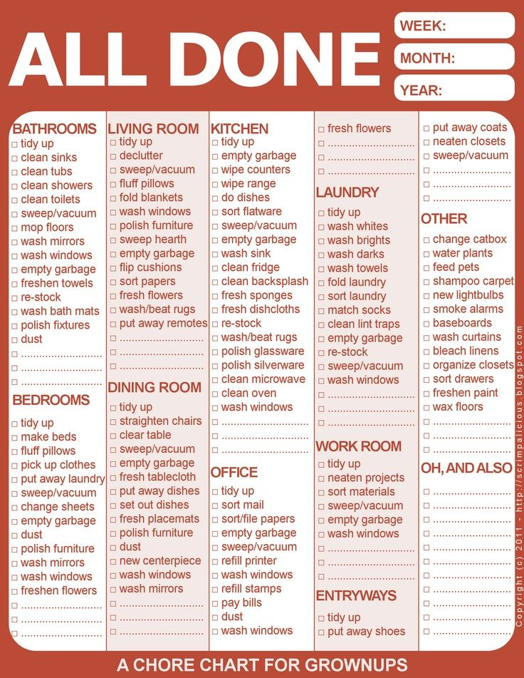 chore chart for roommates