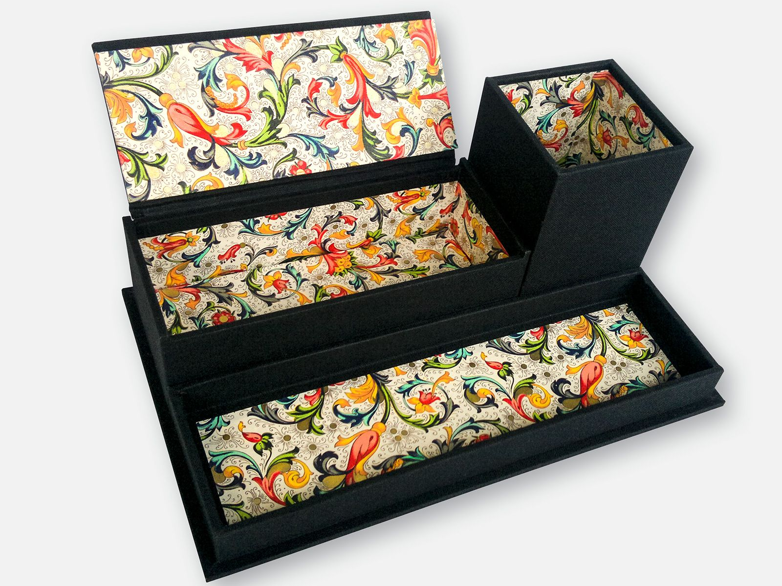 Handmade Tray Decoration Enchanting Handmade Desk Caddy  Organizer With Pencil Cup Tray And Box Inspiration Design