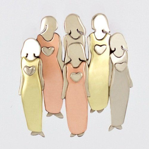 Six Sisters Pin Brooch 6 Mima And Oly Family Best Friend You Can Get More Details By Clicking On The Image This Is An Six Sisters Sisters Girlfriend Gifts