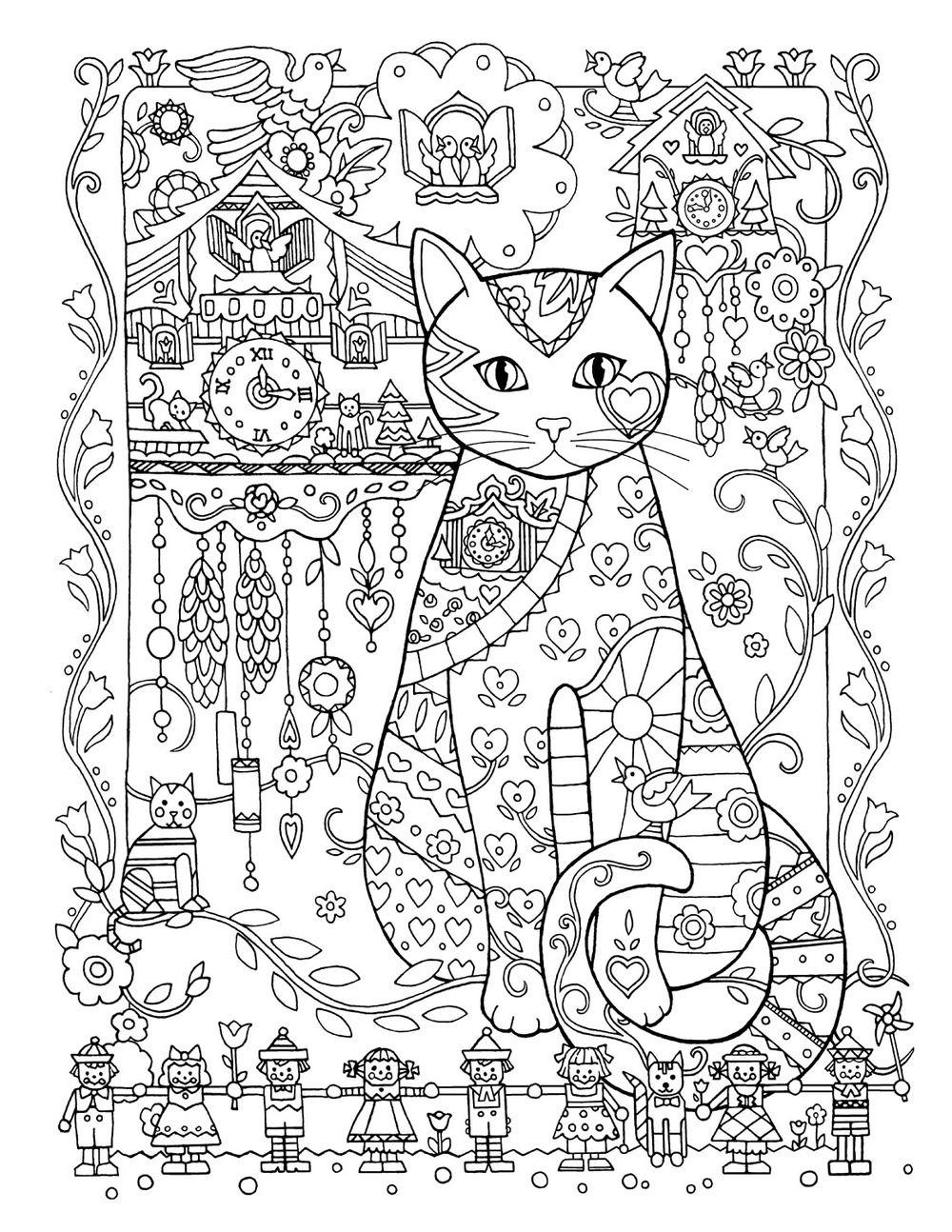 Creative cats colouring book cuckoo clocks by marjorie sarnat